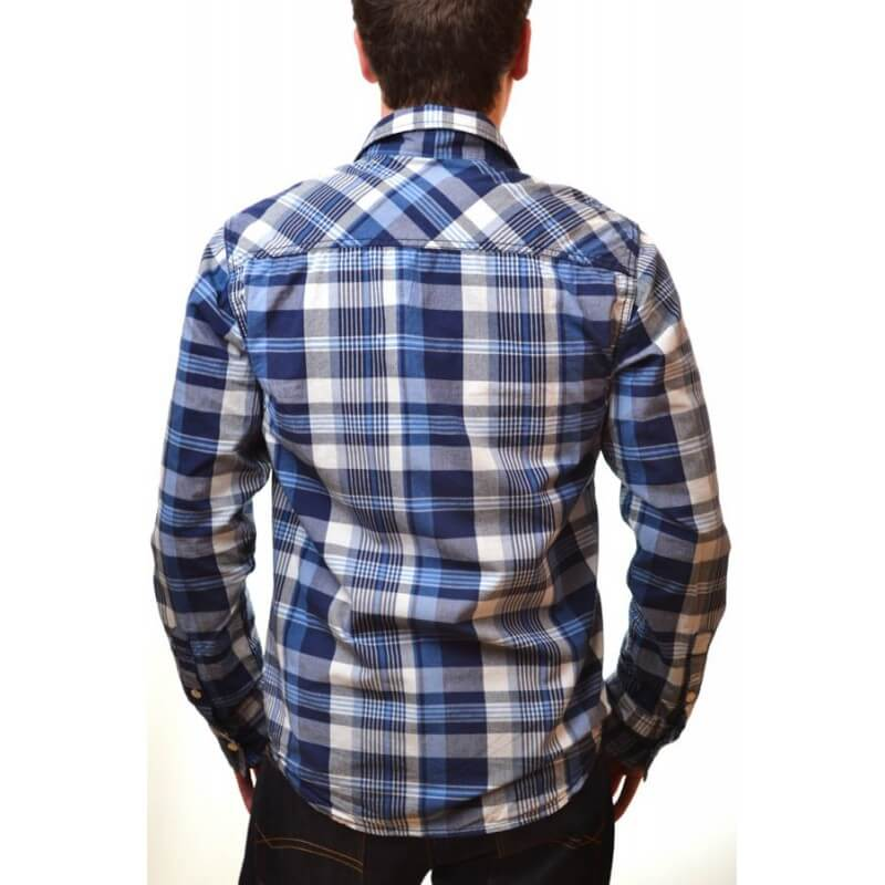 chemise carreaux homme bleu. Black Bedroom Furniture Sets. Home Design Ideas
