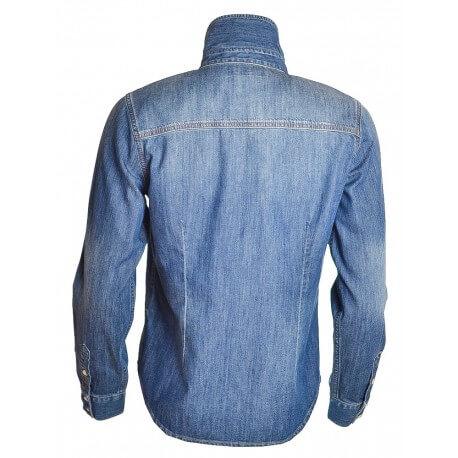 Chemise Gant bleu jean Vintage pour femme
