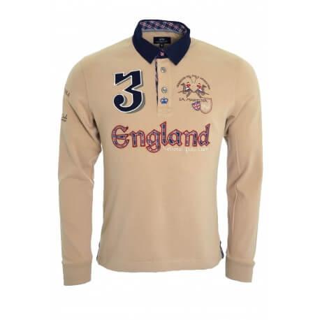 Polo La Martina beige England pour homme