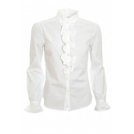 Chemisier Gant blanc popeline pour femme