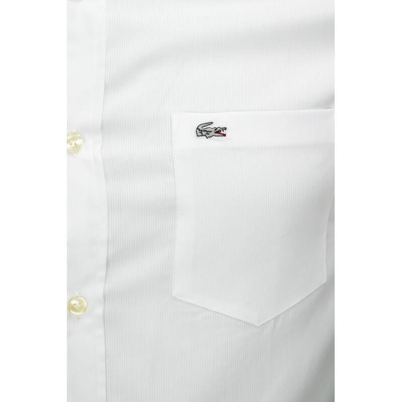 chemise lacoste manche courte blanche. Black Bedroom Furniture Sets. Home Design Ideas