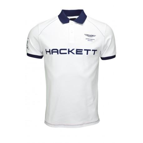 Polo Hackett Aston Martin blanc pour homme